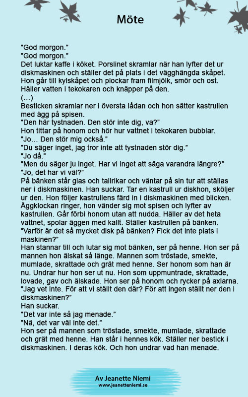 En kort text - Mötet